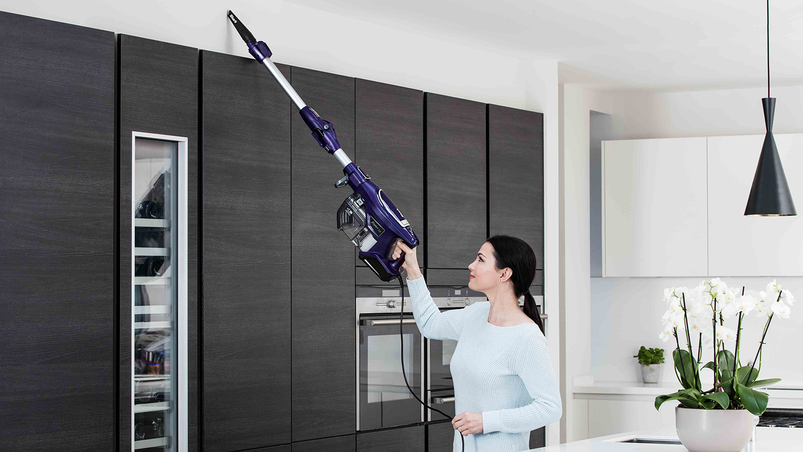 High Up Cleaning with the Shark DuoClean Corded Stick Vacuum Cleaner