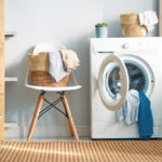 Interior of a real laundry room with a washing machine at home | Shark vacuums | how to clean washing machine tips